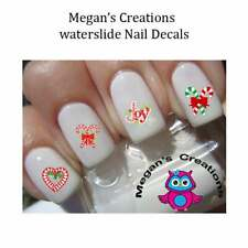 Christmas Candy Cane Nail Art Decals