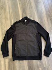 Men's Calvin Klein CK Full Zip Jacket Dress Medium Black Cotton