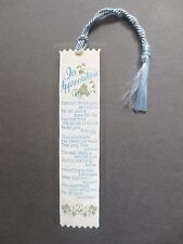 BOOKMARK Vintage Ribbon Woven Appreciation for all you have done Weve A Gift