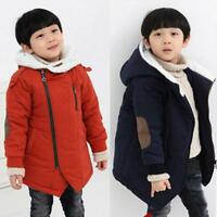 Toddler Baby Kid Boy Winter Outerwear Warm Hooded Coat Down Jacket Overcoat Coat