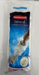 Rubbermaid Reveal Twist Action Mop Refill Washable Mop Head NEW