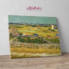 "Vincent Van Gogh ""Raccolto a La Crau"" Stampa Fine Art su tela Canvas Arte Quadro"