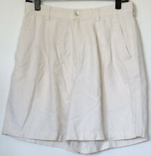 Tommy Bahama Pleated Beige Silk shorts 12