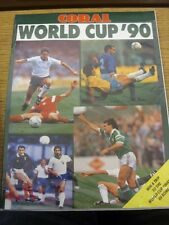 1990 World Cup 1990: Italy - Coral World Cup '90 Preview To The World Cup Brochu