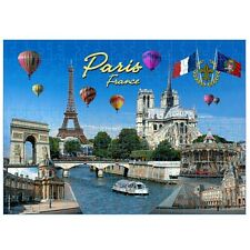Paris France Landmarks and Icons Collage Jigsaw Puzzle 500 pcs