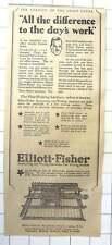 1927 Elliott-fisher, Accounting And Writing Machines Flat Writing Surface