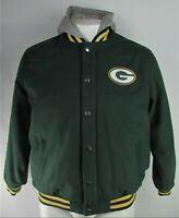 Green Bay Packers NFL G-III Men's Full-Zip Snap-Up Hooded Wool Jacket