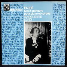 Fauré Quatuors piano & cordes Marguerite Long, Trio Pasquier LP NM, CV NM -