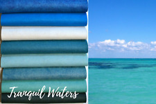 """Wow Tranquil Waters Felt Collection Merino Wool Blend Felt, Eight 9"""" X12"""" Sheets"""