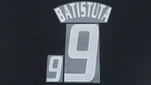 BATISTUTA #9 Argentina Away World Cup 2002 Name Set