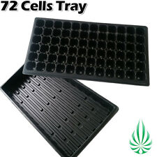 Propagation Seeding Cloning Kit 72 Cells Grow Plug Tray With No Hole Black Tray