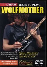 LEARN TO PLAY WOLFMOTHER GUITAR LICK LIBRARY DVD NEW