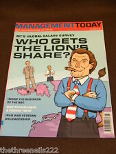 MANAGEMENT TODAY - GLOBAL SALARY SURVEY - JULY 2003
