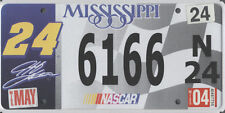 NASCAR CAR LICENSE PLATE TAG JEFF GORDON NUMBER 24 INDY 500 RACE AUTO SPEEDWAY