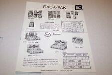 Vintage WARREN PAPER PRODUCTS - CARD GAMES RACK PACK- ad sheet #0220