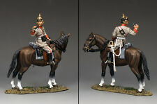 KING AND COUNTRY WW1 German Mounted Infantry Officer with Binos FW128