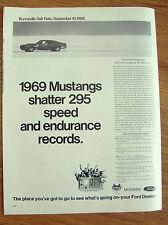 1969 Ford Mustang Ad Shatter Bonneville Salt Flats