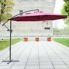 Φ10' Umbrella Sunshade Banana Patio Market Parasol Hanging Offset Outdoor Garden