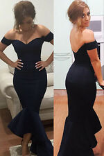 Black Off-shoulder Mermaid Evening Gown/Cocktail/Prom/Formal Dress Size S 8-10
