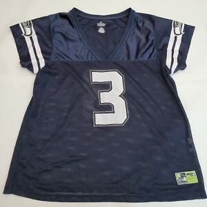 Russell Wilson Seattle Seahawks NFL Football Jersey Women's Size 2XL Blue