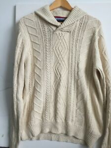 Tommy Hilfiger Button  Collar Cable   Jumper Size L Free Postage
