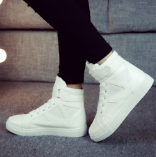 Womens Canvas Shoes High Tops Sneakers Lace Up Skateboarding Casual Running Hot