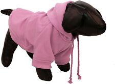 New listing Plush Cotton Pet Hoodie Hooded Sweater Hd1Pkmd Medium Pink
