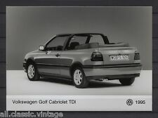 PRESS - FOTO/PHOTO/PICTURE - Volkswagen Golf Cabriolet TDI 1995