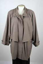 GALLERY PETITE Womens Grayish Brown Poly & Nylon Blend Coat Jacket size L Petite