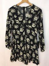 NEW Zara Basic Collection Daisy Long Sleeve Shorts Romper Sz XS Nwt Spring Boho