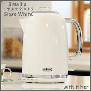 Breville Impressions White Gloss Jug Kettle Electric Limescale Filter 3000 Watt