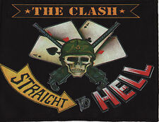 THE CLASH OVERLOCKED PATCH STRAIGHT TO HELL JOE STRUMMER SKULL ARMY PUNK ROCK