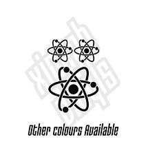 Atom vinyle autocollant decal set logo big bang theory science geek nerd voiture fenêtre