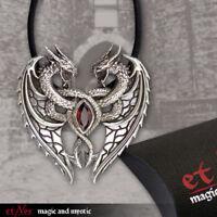 Echt etNox Dragon's Heart Anhänger Silber Gothic Schmuck - NEU