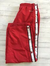 Chaps Ralph Lauren Track Sport Pants Snap Sides Pockets Red White Navy XL