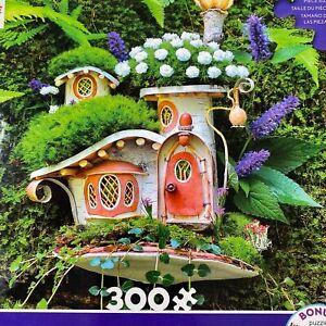Ceaco Fairy Houses Large Format 300 Pieces Puzzle Complete