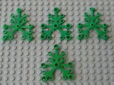 4 x Feuilles LEGO Green plant leaves for trees 2417 / Set 6079 6066 6278 6292...