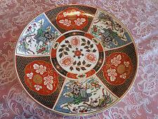 "Vintage Gold Imari Stile Japanese Handpainted Platter Floral/Birds 10"" Plate"