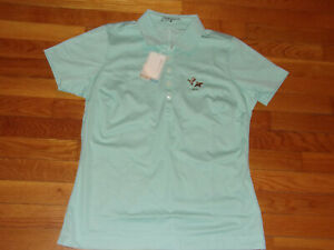 NWT NIKE DRI-FIT CHESTER VALLEY GOLF CLUB SHORT SLEEVE GOLF SHIRT WOMENS LARGE