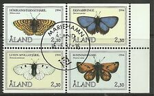 ALAND. 1994. Booklet - Butterflies Set. SG: 81/84. Fine Used CTO.
