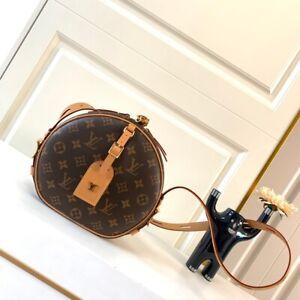 Authentic Women LOUIS VUITTON Circular Shoulder Bag LV Handbag 20*22.5*8 cm