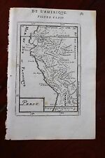✒ 1683 MANESSON MALLET carte du PEROU Amérique du Sud