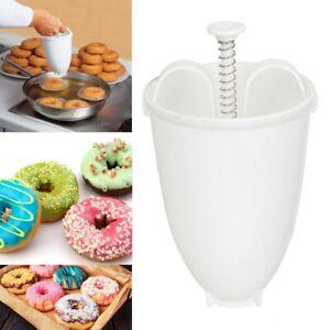 Plastic Donut Doughnut Maker Batter Dispenser DIY Home Kitchen Baking Tools yu