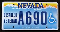 "NEVADA "" DISABLED VETERAN - SILVER STATE "" NV Military Specialty License Plate"