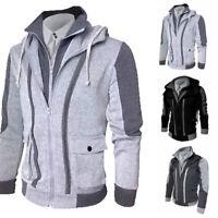 Jacket Tops Winter Men's Sweater Warm Hooded Outwear Sweatshirt Hoodie Coat