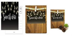 Save The Date Cards 50 4x6 Black and White Rustic Chalkboard Guests at...