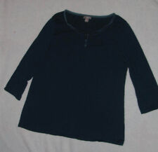 J.Jill Casual Peasant Blouse Shirt Teal Womens Size S