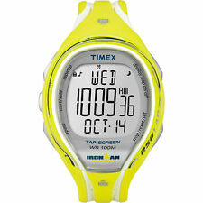 "Timex T5K789, ""Ironman"" Tapscreen Yellow Resin Watch, 250-Lap, Alarm,Chronograph"