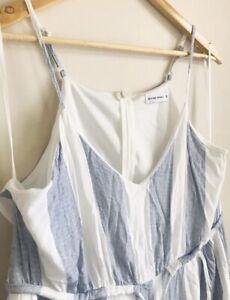 Divine Avenue Striped Jumpsuit Boho Cotton Excellent Condition Plus Size 16 🌿