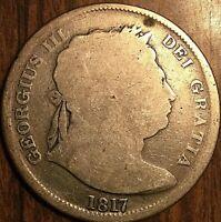 1817 GREAT BRITAIN GEORGE III SILVER HALF CROWN COIN